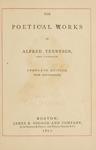 Download The poetical works of Alfred Tennyson.