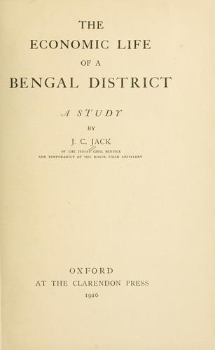 The economic life of a Bengal district