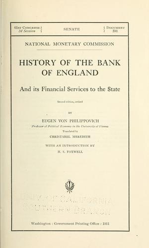 Download History of the Bank of England and its financial services to the state.