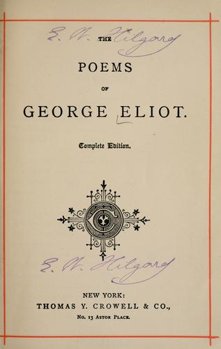 Download The poems of George Eliot.