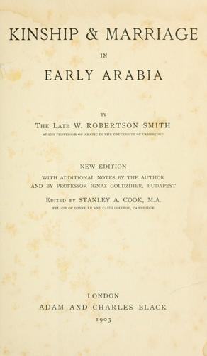 Download Kinship & marriage in early Arabia