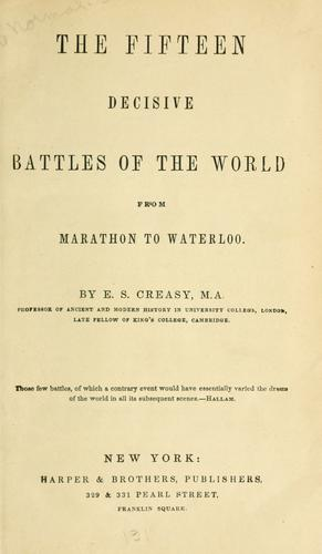 Download The fifteen decisive battles of the world