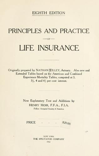 Principles and practice of life insurance