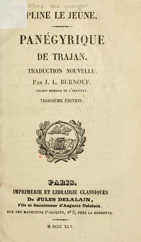 Download Panégyrique de Trajan