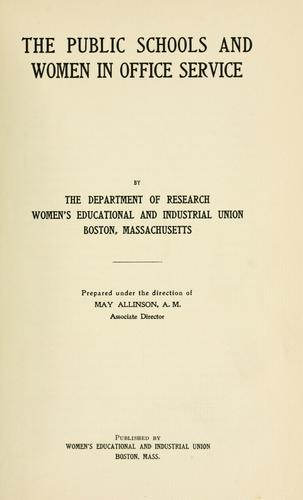 The public schools and women in office service