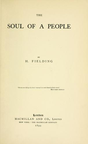 The soul of a people by Fielding Hall, H., H. Fielding