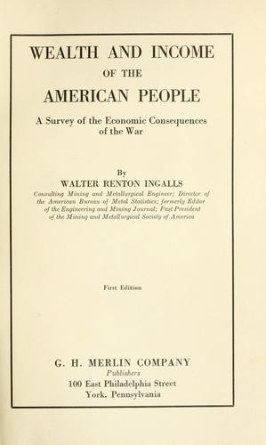 Download Wealth and income of the American people