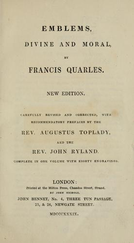 Emblemes by Francis Quarles