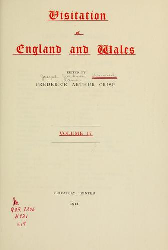 Visitation of England and Wales.