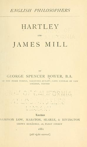 Hartley and James Mill.