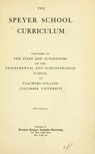 The Speyer school curriculum