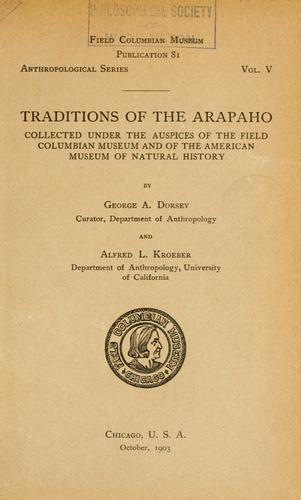 Download Traditions of the Arapaho