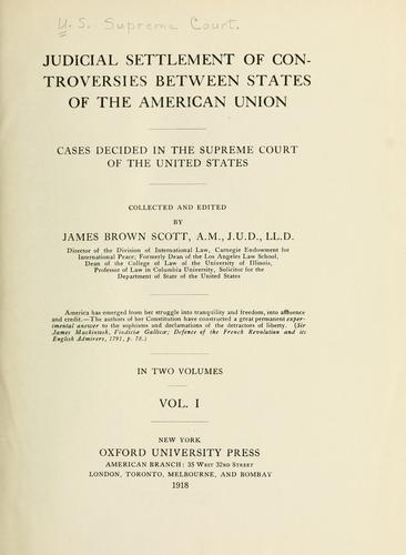 Download Judicial settlement of controversies between states of the American union