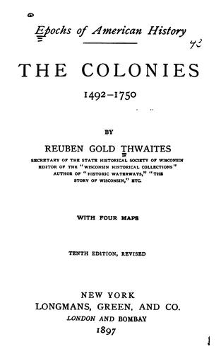 Download The colonies, 1492-1750