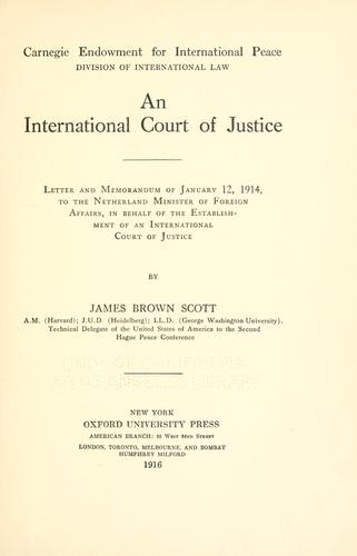 Download An international court of justice