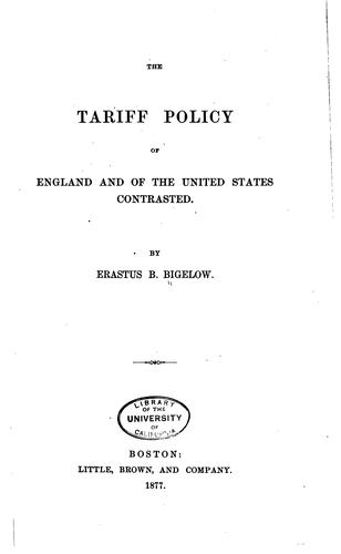 Download The tariff policy of England and of the United States contrasted