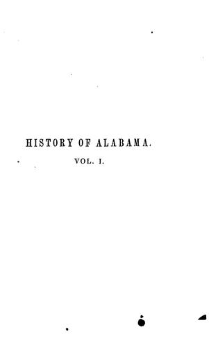 History of Alabama, and incidentally of Georgia and Mississippi