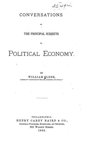 Download Conversations on the principal subjects of political economy