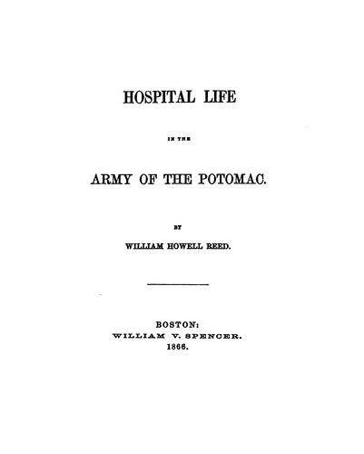 Hospital life in the Army of the Potomac