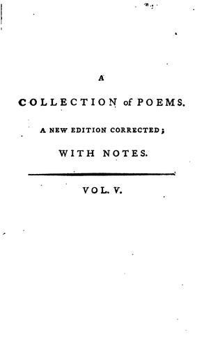 Download A collection of poems in six volumes
