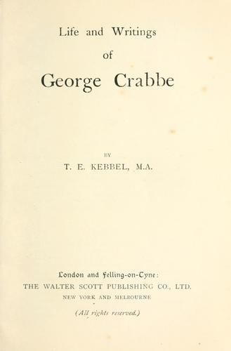Life of George Crabbe