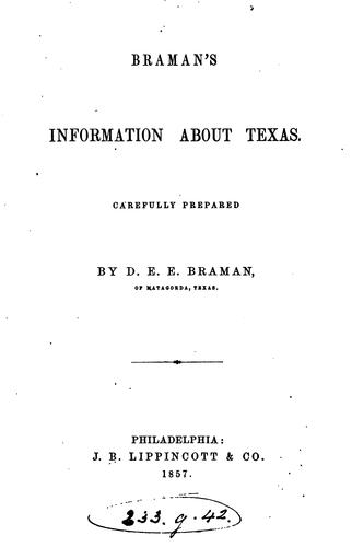 Braman's information about Texas