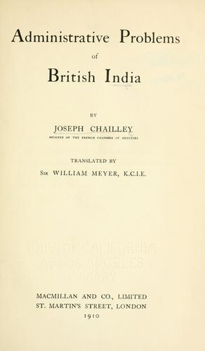 Administrative problems of British India