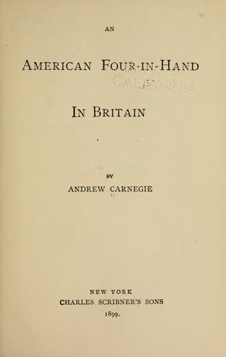 Download An American four-in-hand in Britain