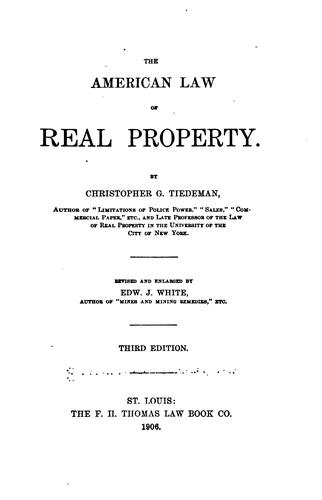 The American law of real property.