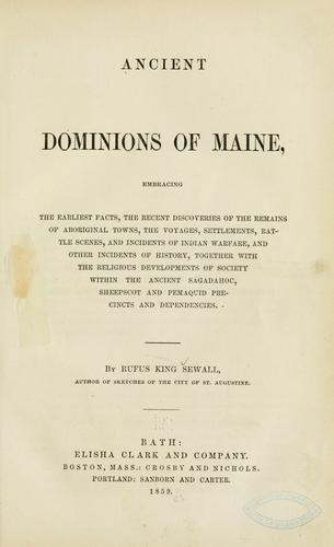 Download Ancient dominions of Maine
