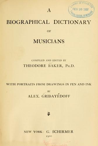 Download A biographical dictionary of musicians