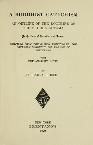 Download A Buddhist catechism