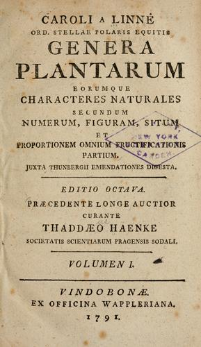 Download Caroli a Linné … Genera plantarum