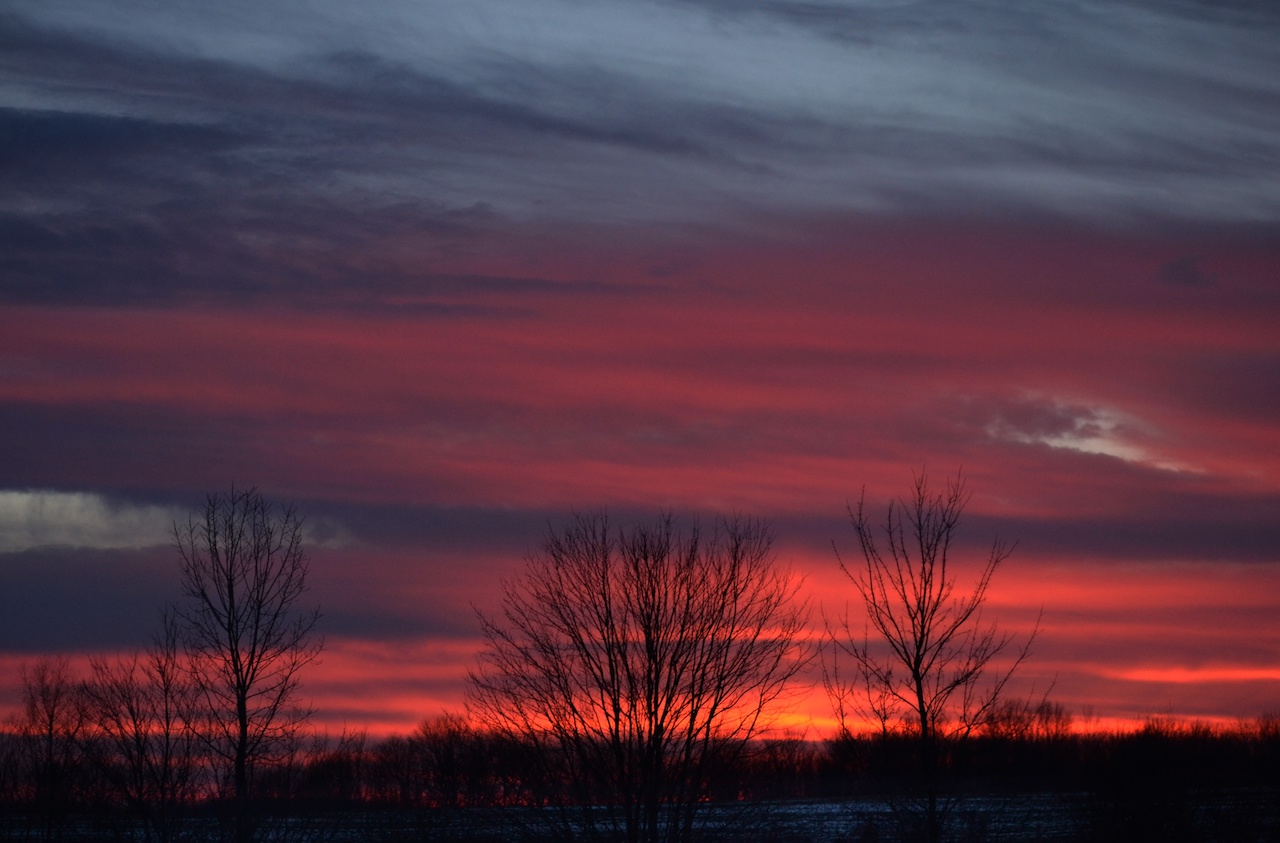 Winter sunset in the Finger Lakes