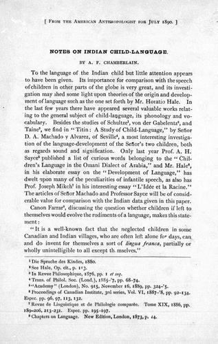 Notes on Indian child-language by A. F. Chamberlain