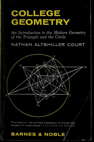 College geometry by Nathan Altshiller-Court