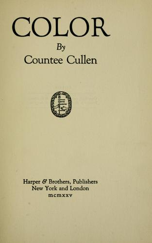 Color by Countee Cullen