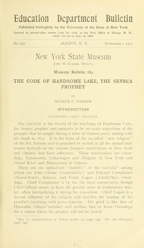 The code of Handsome Lake, the Seneca prophet by Handsome Lake