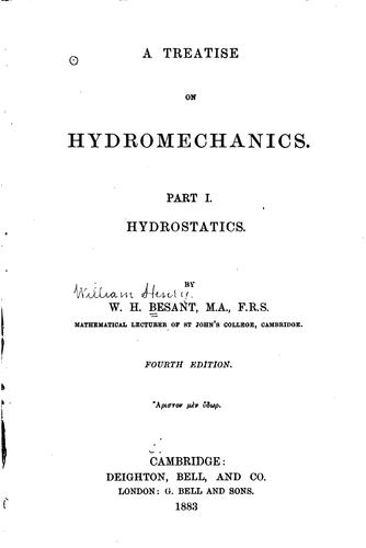 A Treatise on Hydromechanics by William Henry Besant