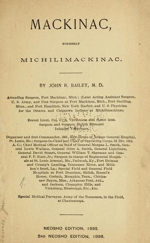 Mackinac by Bailey, John R.