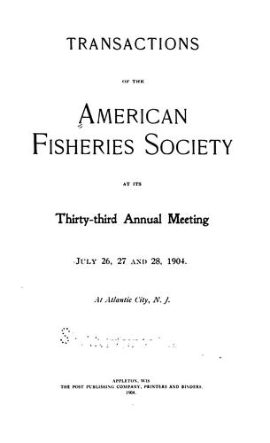 Transactions of the American Fisheries Society by American Fisheries Society