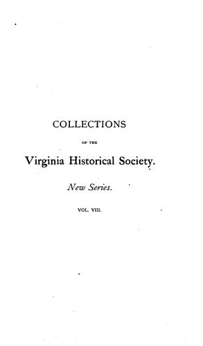 Collections of the Virginia Historical Society by Virginia Historical Society