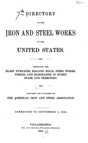 Directory of Iron and Steel Works of the United States and Canada by American Iron and Steel Institute