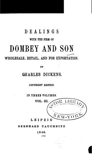 Dealings with the Firm of Dombey and Son by Nancy Holder