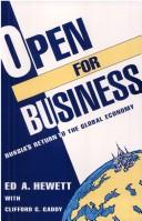 Open for business by Edward A. Hewett