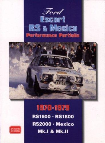 Ford Escort RS & Mexico Performance Portfolio 1970-79 (Performance Portfolio) by R. M. Clarke