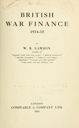 British war finance, 1914-15