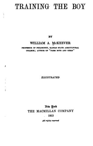 Training the boy by McKeever, William A.