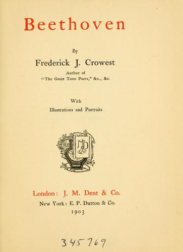 Beethoven by Frederick James Crowest