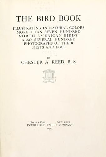 The bird book by Chester A. Reed